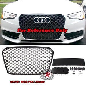 RS5 Style Front Grille (Black) For 2013-2017 Audi A5 S5 (B8.5) - Bayson R Motorsports