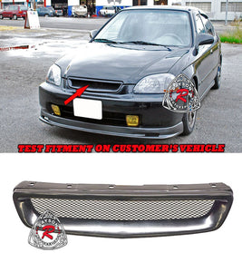 96-98 Honda Civic Type-R Style Front Grill with Removable Metal Mesh (ABS Plastic)