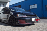 15-17 VW Golf 7 MK7 GTI Style Badgeless Grill w/ Chrome Trim (ABS Plastic) - Bayson R Motorsports