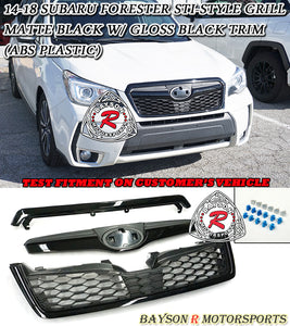 STi Style Grille For 2014-2018 Subaru Forester - Bayson R Motorsports