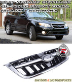 08-09 Subaru Outback OE-Style Front Grill (Black / Chrome) - Bayson R Motorsports