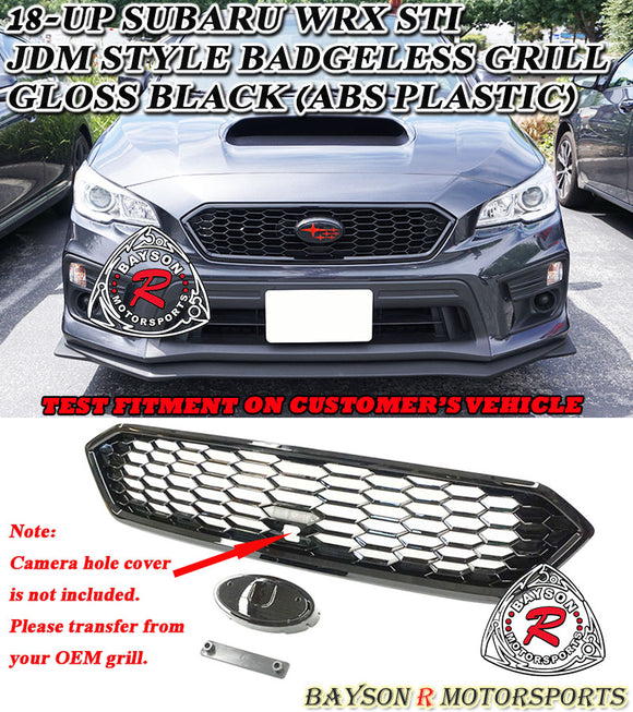 JDM Style Front Grille For 2018-2020 Subaru WRX STi - Bayson R Motorsports