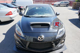 10-13 Mazdaspeed 3 5dr Hatch Raised Hood Scoop w/ Mesh (Fiberglass) - Bayson R Motorsports