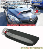 Raised Hood Scoop (Fiberglass) For 2010-2013 Mazdaspeed3 - Bayson R Motorsports