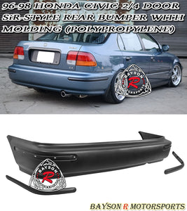 SiR Style Rear Bumper For 1996-1998 Honda Civic 2Dr / 4Dr - Bayson R Motorsports
