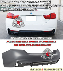 14-18 BMW F32/F33 4-Series MP-Style Rear Bumper Cover (Polypropylene)
