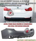 14-18 BMW F32/F33 4-Series MP-Style Rear Bumper Cover (Polypropylene) - Bayson R Motorsports