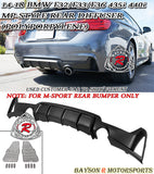 14-18 BMW 4-Series F32 F33 F36 MP-Style Rear Diffuser (Polypropylene) [Dual Outlets Dual Exhausts] - Bayson R Motorsports
