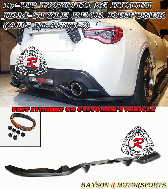 JDM Style Rear Diffuser For 2017-2021 Toyota 86 - Bayson R Motorsports