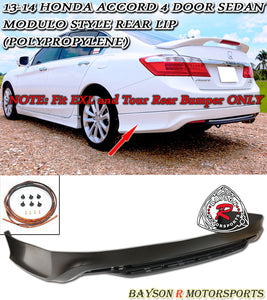 13-15 Honda Accord 4-Door Sedan Modulo Style Rear Lip (Polypropylene)