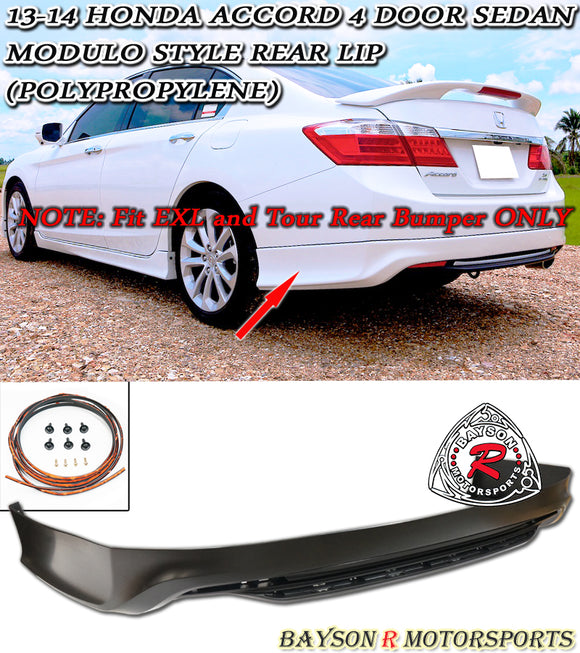 13-15 Honda Accord 4-Door Sedan Modulo Style Rear Lip (Polypropylene) - Bayson R Motorsports