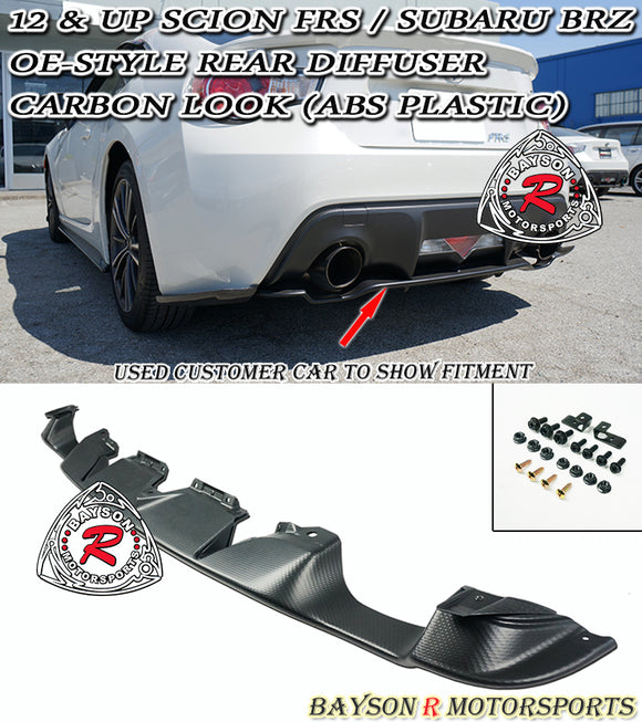 OE Style Rear Diffuser (Textured) For 2012-2021 Subaru BRZ / 2012-2016 Scion FR-S - Bayson R Motorsports