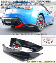 Load image into Gallery viewer, 12-16 Subaru BRZ Scion FR-S FT86 GT86 STi-Style Rear Bumper Aprons (ABS Plastic)