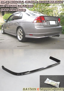 RS Style Rear Lip For 2001-2003 Honda Civic 4Dr - Bayson R Motorsports