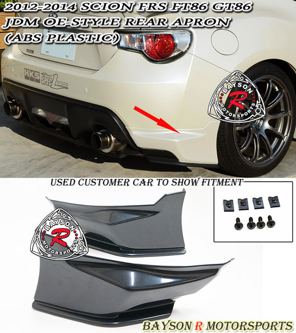 12-16 Scion FR-S OE Style Rear Bumper Aprons (ABS) - Bayson R Motorsports