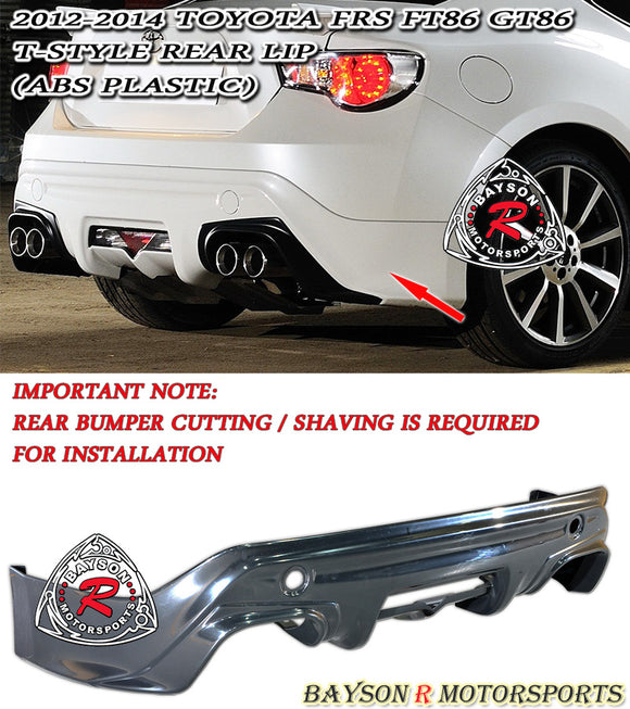 12-16 Scion FR-S FT86 GT86 ZN6 T-Style Rear Bumper Lip (ABS Plastic)