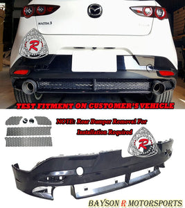 MZ Style Rear Lip For 2019-2020 Mazda 3 5DR (without PDC Holes) - Bayson R Motorsports