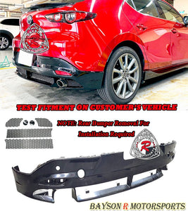 MZ Style Rear Lip For 2019-2021 Mazda 3 5DR (with PDC Holes) - Bayson R Motorsports