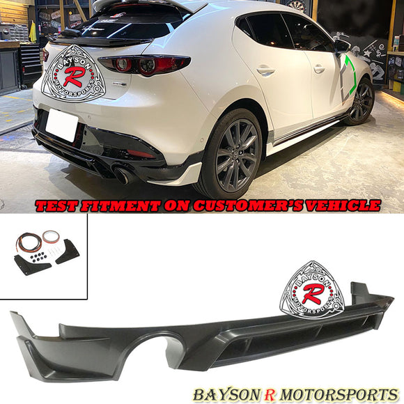 TH Style Rear Lip For 2019-2020 Mazda 3 5DR - Bayson R Motorsports