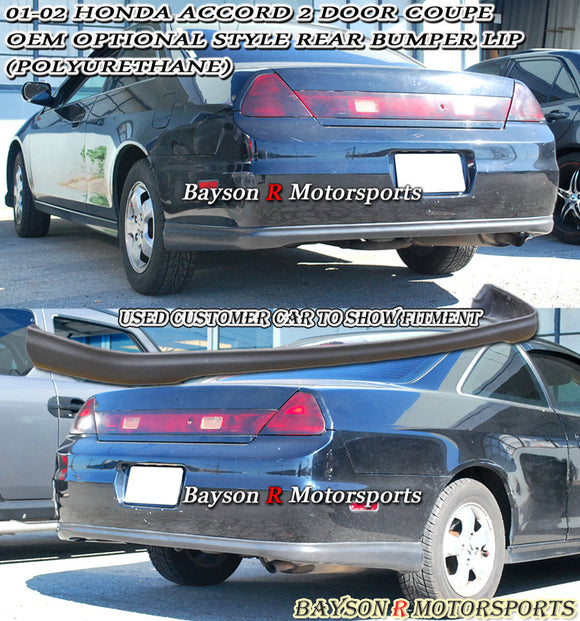 01-02 Honda Accord 2dr OE Optional Style Rear Bumper Lip (Polyurethane) - Bayson R Motorsports