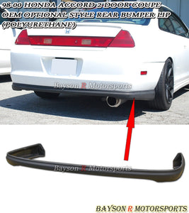 OE Style Rear Lip For 1998-2000 Honda Accord 2Dr - Bayson R Motorsports