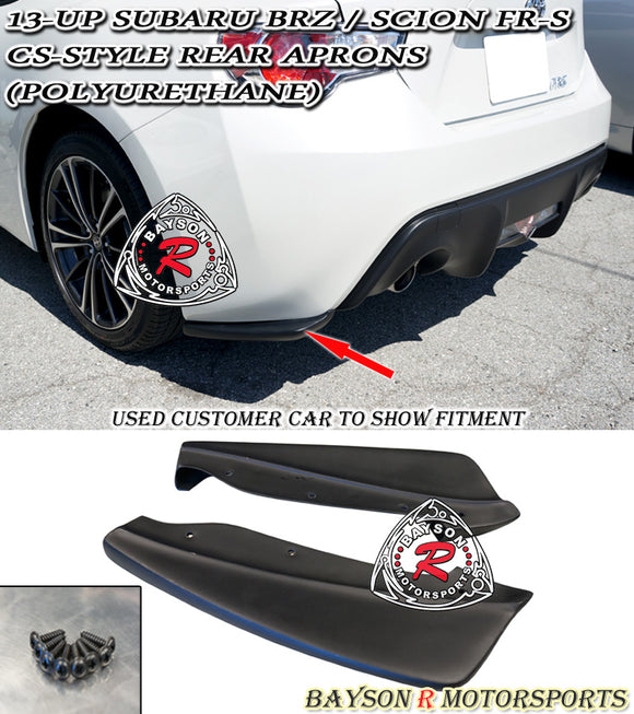 CS Style Rear Aprons For 2012-2020 Subaru BRZ / 2012-2016 Scion FR-S - Bayson R Motorsports