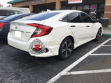 A Style Rear Aprons For 2016-2018 Honda Civic 4Dr - Bayson R Motorsports