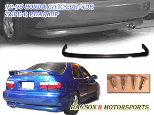 TR Style Rear Lip For 1992-1995 Honda Civic 2Dr / 4Dr - Bayson R Motorsports