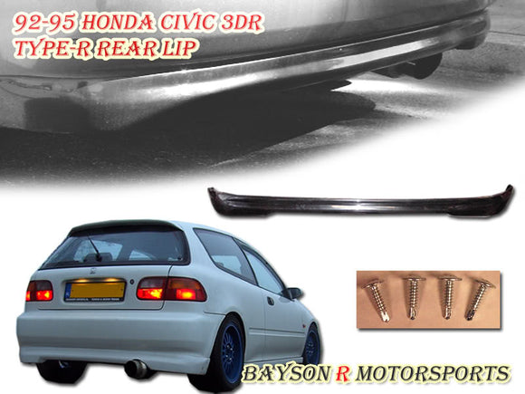 TR Style Rear Lip For 1992-1995 Honda Civic 3Dr - Bayson R Motorsports