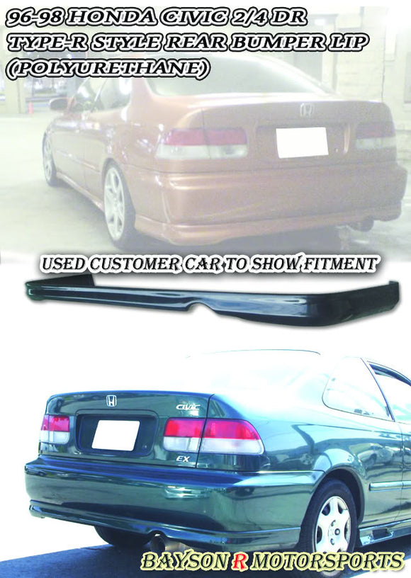TR Style Rear Lip For 1996-1998 Honda Civic 2Dr / 4Dr - Bayson R Motorsports