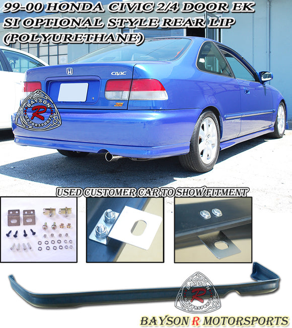 CTR Style Rear Lip For 1999-2000 Honda Civic 2Dr / 4Dr - Bayson R Motorsports
