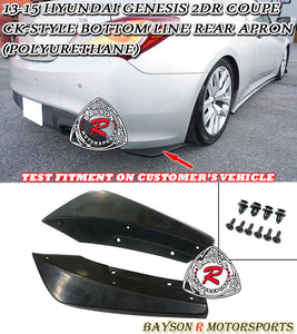 CK Style Rear Aprons For 2013-2015 Hyundai Genesis 2Dr - Bayson R Motorsports