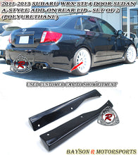 Load image into Gallery viewer, 11-14 Subaru WRX STi 4dr Sedan A-Style Add-On Rear Lip (Polyurethane)