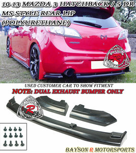 10-13 Mazda 3 5dr Hatchback MS-Style Rear Lip (Dual Exhaust)