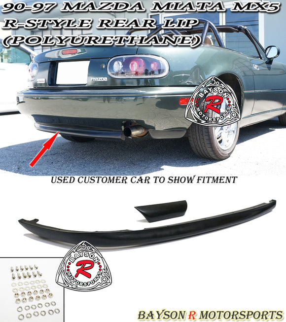 R Style Rear Lip For 1990-1997 Mazda MX-5 Miata - Bayson R Motorsports