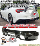 T Style Rear Lip For 2017-2020 Toyota 86 (Dual Exhaust) - Bayson R Motorsports