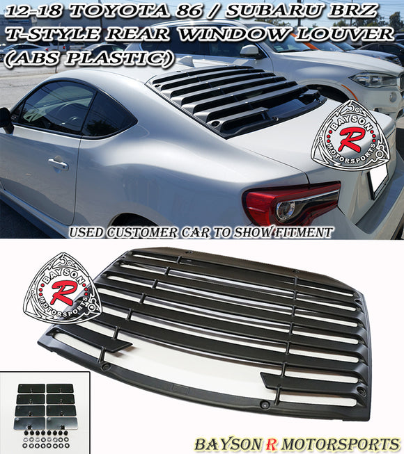 12-20 Scion FR-S / Subaru BRZ / Toyota 86 T-Style Rear Window Louver Sun Shade Cover (ABS)