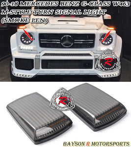 M Style LED Turn Signal Lamps (Smoked) For 1990-2018 Mercedes-Benz G-Class W463 - Bayson R Motorsports