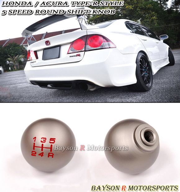 TR Style Round Shift Knob For Honda / Acura (5-Speed Manual) - Bayson R Motorsports
