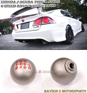 TR Style Round Shift Knob For Honda / Acura (6-Speed Manual) - Bayson R Motorsports