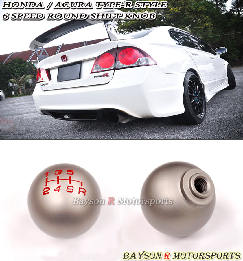 Honda Acura Type-R Style Round Shift Knob (6-Speed Manual)