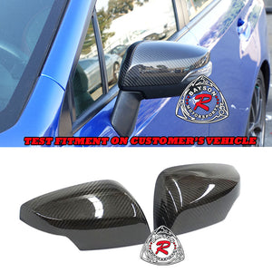 Side Mirror Covers (Dry Carbon Fiber) For 2015-2020 Subaru WRX / STi With Side Marker - Bayson R Motorsports