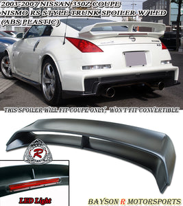RS Style Spoiler w/ 3rd LED Brake Light For 2003-2008 Nissan 350z - Bayson R Motorsports