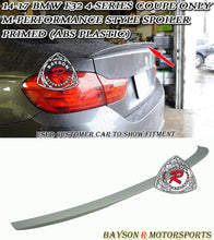 Load image into Gallery viewer, 14-19 BMW F32 4-Series 2dr Coupe M-Performance Style Trunk Lip Spoiler (ABS Plastic)