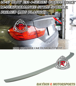 14-19 BMW F32 4-Series 2dr Coupe M-Performance Style Trunk Lip Spoiler (ABS Plastic)