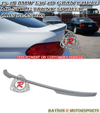 15-19 BMW F36 4-Series Gran Coupe MP-Style Trunk Lip Spoiler (ABS Plastic)