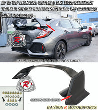 Load image into Gallery viewer, 17-19 Honda Civic 5DR Hatchback Type-R Style Trunk Spoiler w/ Carbon (ABS Plastic)