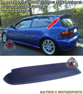 Spn Style Spoiler For 1992-1995 Honda Civic 3Dr - Bayson R Motorsports