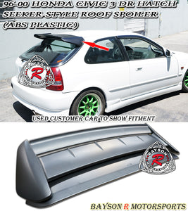 96-00 Honda Civic 3Dr Seeker-Style Rear Roof Spoiler Wing (ABS Plastic)