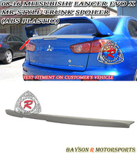 Load image into Gallery viewer, 08-15 Mitsubishi Lancer Evolution X (Evo 10) MR-Style Rear Trunk Lip Spoiler (ABS Plastic)